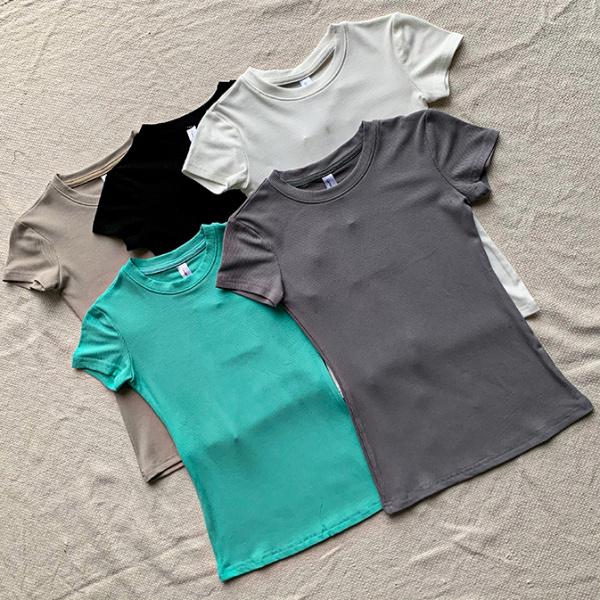 Европ, Америкийн тачаангуй шоу гар хийцийн гар хийцийн Кардашьян сунгах хатуу дугуй хүзүү богино ханцуйтай футболк зуны гоолиг доод