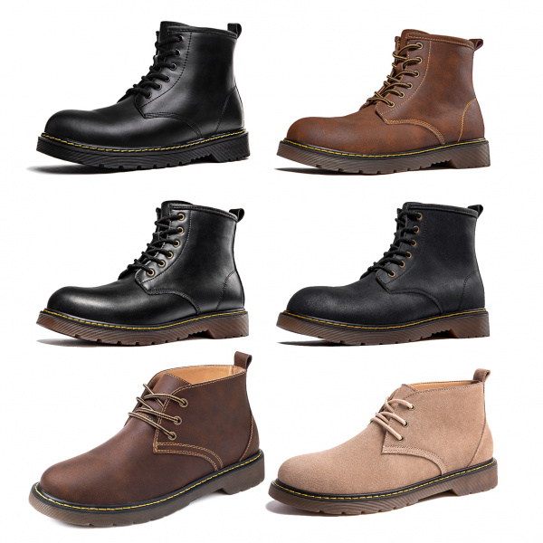 Мартин гутал эрэгтэйчүүдийн дунд хэрэгслийн гутал Британийн хэв маягийн өндөр дээд арьсан гутал чиг хандлага эрэгтэй гутал намрын бүх гутал богино гутал хар савхин гутал